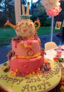 Alice Inspired Teapot Cake