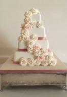 blush pink & ivory rose cascade
