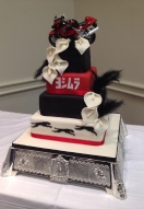 Red & Black Themed Cake
