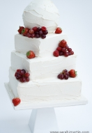Buttercream covered summer fruits