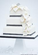 ivory lily & diamante cascade
