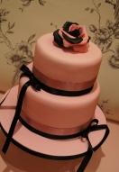 Pink & Black Rose