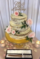 Partial Buttercream & Gold Leaf