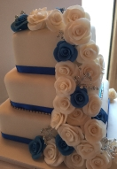 Blue & Ivory Rose Cascade