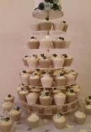 Grey Rose Cupcakes