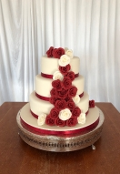 Red & Ivory Rose Cascade