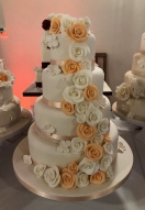 Peach & Ivory Rose Cascade
