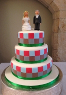 Harlequins Themed Cake