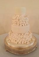 Ivory Hydrangea cake