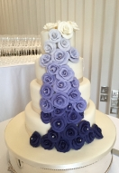 Ombre Blue rose