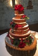 Naked Xmas Cake