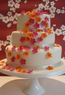 Pink & Orange Blossom Cascade