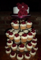 Burgundy Rose Cupcakes